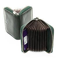 Визитница женская Dr. Bond WS-2 кожаная для 12 карт маленькая компактная Зеленый, фото 1