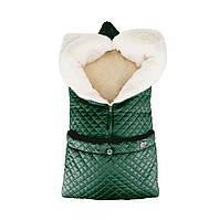 Детский зимний конверт-трансформер Merrygoround (овчина) Green