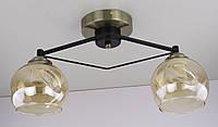 Люстра потолочная на 2 лампочки (22х20х42 см.) Черный, бронза YR-2531/2