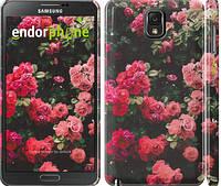 """Чехол на Samsung Galaxy Note 3 N9000 Куст с розами """"2729c-29"""""""