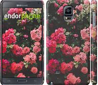 """Чехол на Samsung Galaxy Note 4 N910H Куст с розами """"2729c-64"""""""