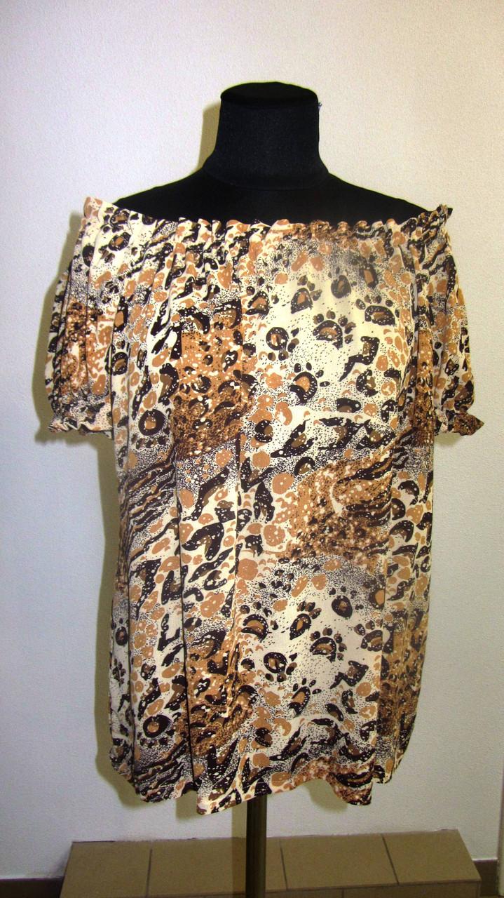 Блуза женская  с цветочным рисунком, 46,48, 50,52, тонкая легкая ,купить , Бл 019-11.