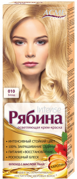 "Крем-краска Acme Рябина Intense ""№010 Блонд"""