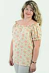 Блуза женская  с цветочным рисунком, 46,48, 50,52, тонкая легкая ,купить , Бл 019-11., фото 5