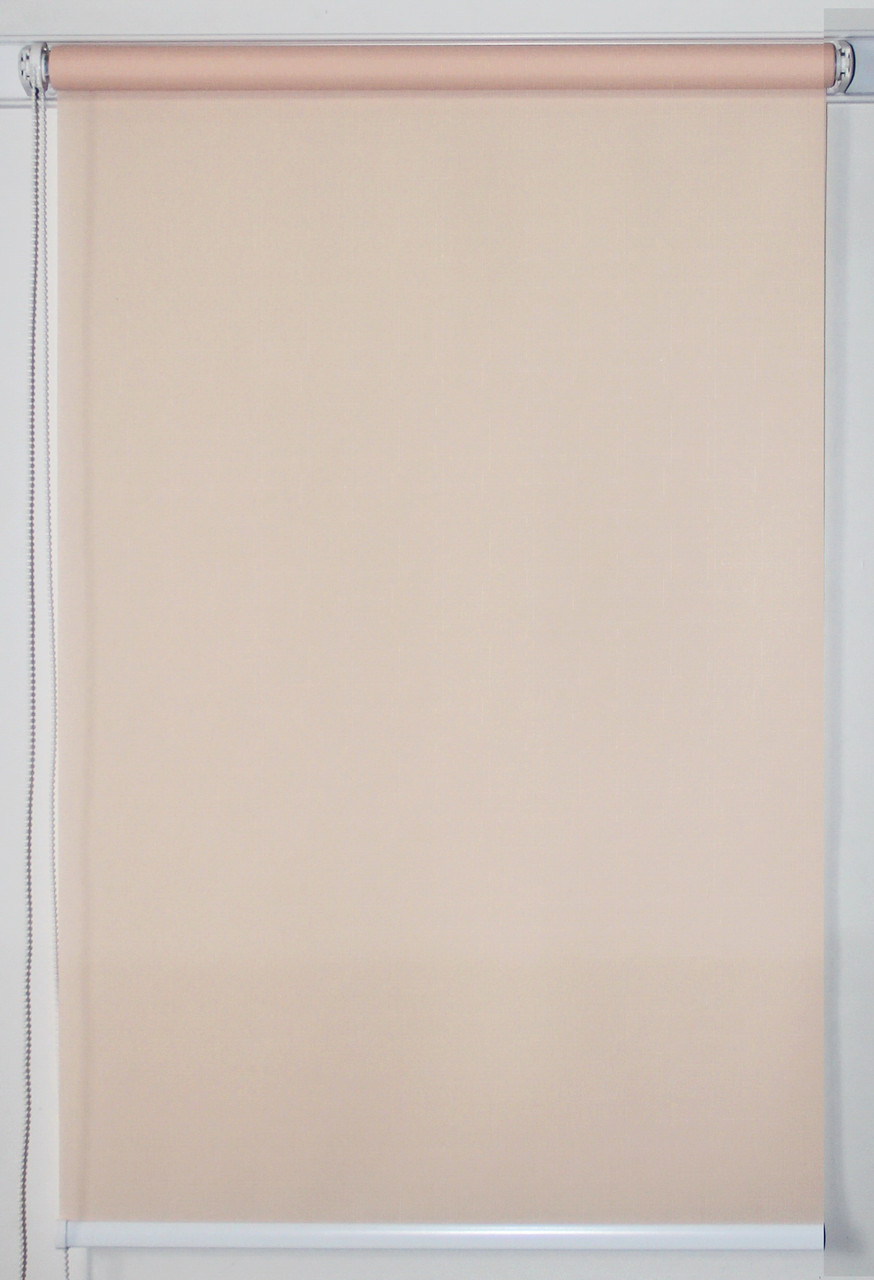 Готовые рулонные шторы 700*1500 Ткань Лён 2070 Кремовый