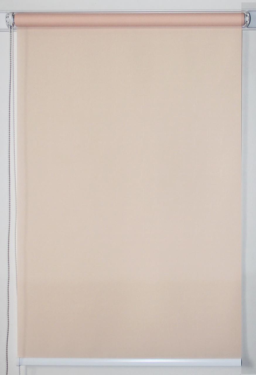 Рулонная штора 700*1500 Ткань Лён 2070 Кремовый