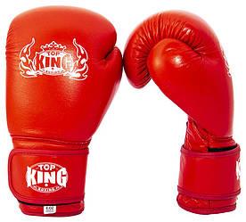 Боксерські рукавиці (боксерские перчатки) King Top (30шт) 3 види, розмір 8 OZ, шкіра, в пак.