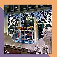 Новогодий декор для витрин и торговых залов магазинов - ЧПУ