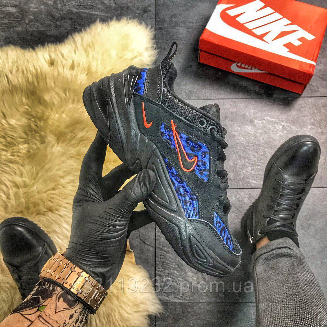 Женские кроссовки  Nike M2K Tekno Black Leopard Pack (черные)