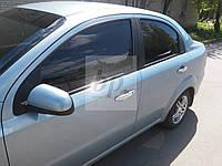 Хром накладки на дверные ручки (нерж) Chevrolet aveo T300 (шевроле авео т300) 2011+