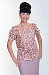 Блуза женская  с цветочным рисунком, 46,48, 50,52, тонкая легкая ,купить , Бл 019-11., фото 3