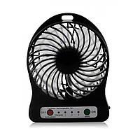 USB настольный мини вентилятор Mini Fan XSFS-01 с аккумулятором 18650