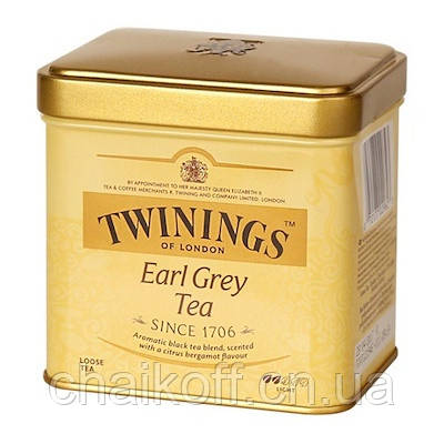 Чай черный с бергамотом Twinings Earl Grey Tea 100г