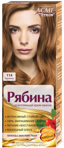 "Крем-краска Acme Рябина Intense ""№114 Карамель"""