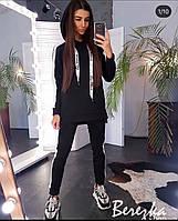 Спортивный костюм женский тёплый чёрный, хаки, фрез, фото 1