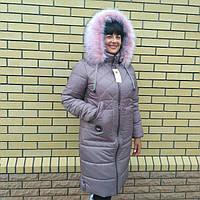 Пальто-пуховик женский, размер 48 - 60