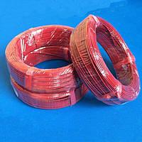 Карбоновый кабель для керамических обогревателей  F24К, R-17 Ом/м.пог., D-2,2мм., Изоляция тефлон.