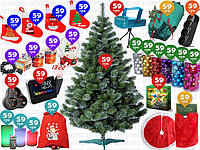 26пр. 210см Искусственная Ёлка ПЫШНАЯ новогодняя елка ель сосна штучна, ялинка, йолка с игрушками в наборе
