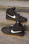 😜 Ботинки - Мужские форсы NIKE зимние на меху черные, фото 3