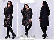 Женская удлинённая туника-платье  батал с 56 по 60 размер, фото 3