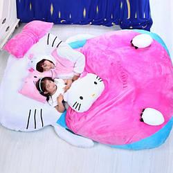 """Кровать """"Hello kitty с подушками для девочек"""