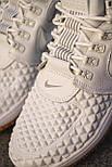 😜 Кроссовки - Мужские форсы NIKE зимние на меху белые шнурками, фото 4