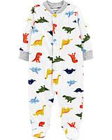 """Теплый флисовый человечек для малыша """"Динозавры""""  Carter's"""