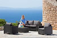 Набор садовой мебели California 3 Seater Lounge Set из искусственного ротанга, фото 1