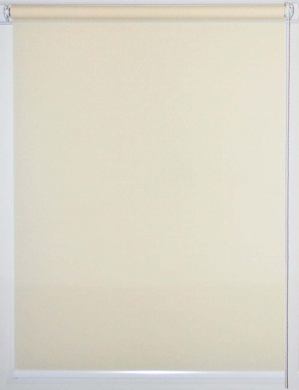 Готовые рулонные шторы 800*1500 Ткань Лён 875 Слоновая кость