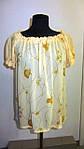 Блуза женская  с цветочным рисунком, 46,48, 50,52, тонкая легкая ,купить , Бл 019-12 лимон., фото 3