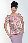Блуза женская  с цветочным рисунком, 46,48, 50,52, тонкая легкая ,купить , Бл 019-12 лимон., фото 4