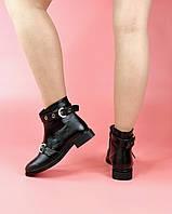 Женские ботинки KA-224/0 MORENTO (черные, нат. кожа, байка, весна/осень)