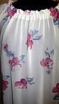 Блуза женская  с цветочным рисунком, 46,48, 50,52, тонкая легкая ,купить , Бл 019-13 сакура., фото 3