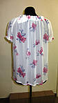 Блуза женская  с цветочным рисунком, 46,48, 50,52, тонкая легкая ,купить , Бл 019-13 сакура., фото 4