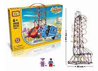 """Электромеханический конструктор LoZ """"Amusement Park Roller Coaster"""" (785 деталей)"""