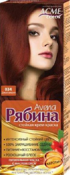 """Крем-краска Acme Рябина Avena """"№034 Дикая вишня"""""""