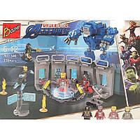 """Конструктор Bozhi 346 (Аналог Lego Super Heroes 76125) """"Лаборатория железного человека"""" 338 деталей"""