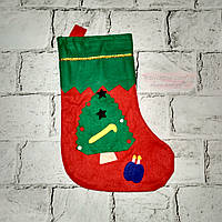 Новогодний носок для подарков, Елка