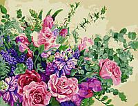 """Картина по номерам """"Чудесные цветы"""" 50*65см в коробке"""