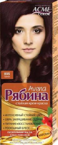"Крем-краска Acme Рябина Avena ""№035 Гранат"""