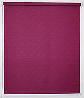 Готовые рулонные шторы 325*1500 Ткань Лён 7446 Пурпурно-красный