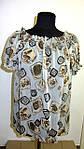 Блуза женская  с цветочным рисунком, 46,48, 50,52, тонкая легкая ,купить , Бл 019-14., фото 3