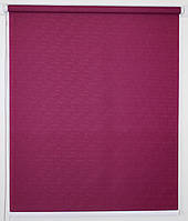 Рулонная штора 425*1500 Ткань Лён 7446 Пурпурно-красный, фото 1