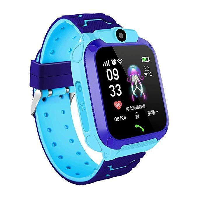 Детские умные часы Smart Baby Watch q12 Blue GPS LBS AGPS IP68 камера