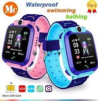 Детские умные часы Smart Baby Watch q12 Blue GPS LBS AGPS IP68 камера, фото 3