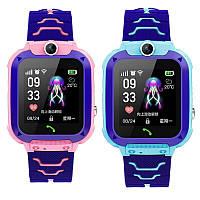 Детские умные часы Smart Baby Watch q12 Blue GPS LBS AGPS IP68 камера, фото 4