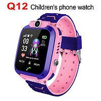Детские умные часы Smart Baby Watch q12 Blue GPS LBS AGPS IP68 камера, фото 5