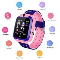 Детские умные часы Smart Baby Watch q12 Blue GPS LBS AGPS IP68 камера, фото 6