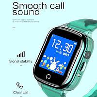 Детские умные часы Smart Baby Watch K21 Blue GPS LBS IP68 камера, фото 4