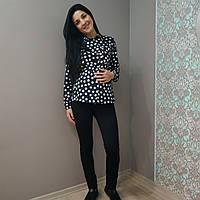 Брюки турецкий  трикотаж для беременных с флисом, фото 1